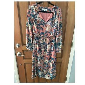 WAYF Midi Floral Dress